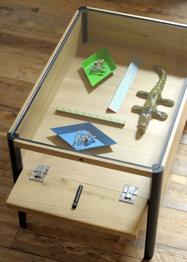 HOME DESIGN ETHNICRAFT OAK WINDOW SIDE TABLE