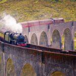 LUXURY TRAINS WORLD Glenfinnan railway viaduct Scotland, Jacobite steam train