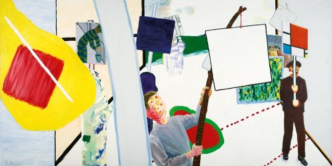 WHATS ON BELGIUM BOZAR ROGER RAVEEL De Schilderijenoptocht van 1978 te Machelen-aan-de-Leie_1978_Collectie Museum Arnhem