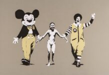 WHATS ON BELGIUM DEODATO ART_Banksy-Napalm-serigrafia_carta-47x70cm